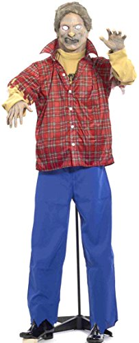 Forum Novelties Life Size Latex Plaid Shirt Zombie Halloween Prop with Stand -
