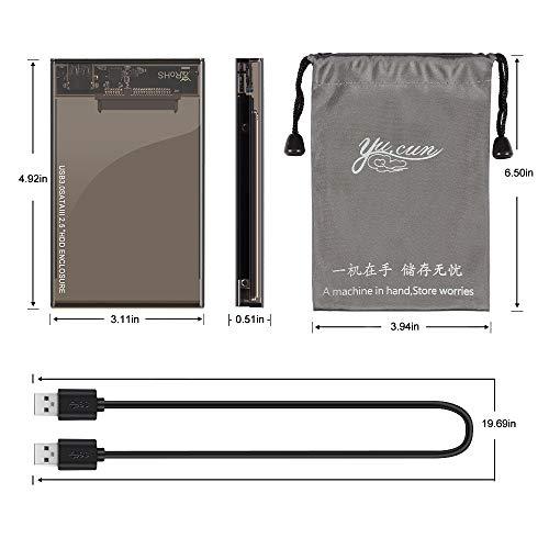 Kycola Hard Drive Enclosure RJ01 USB 3.0 to Hard Drive Disk External Enclosure Case for 2.5 Inch/3.5 Inch SATA I/II/III/HDD 10TB Support UASP(Black) (RJ01, Black) (RJ02-A, RJ02-A/Black) by Kycola (Image #6)