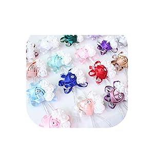 Wedding Decoration Mariage Roses Wrist Corsages Hand Flowers Silk Lace Pe Foam Artificial Brides Bridesmaid Wrist Flowers 30