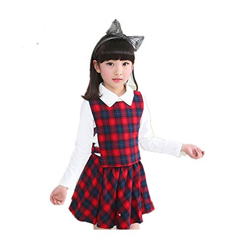 ftsucq-girls-checked-shirts-vest-skirts-sets-three-piece-suitred-160