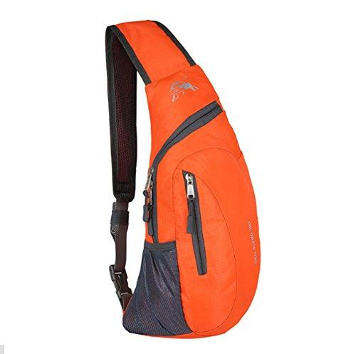 Rucksack, wasserabweisende Outdoor-Schultertasche, Umhängetasche, für Damen, Herren, Mädchen, Jungen, Reise-/Tagesrucksack Orange