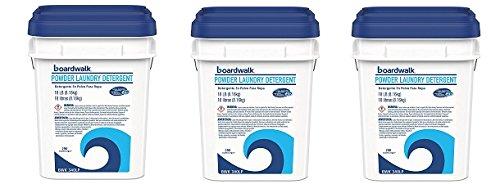 Boardwalk 340LP Laundry Detergent Powder, Summer Breeze, 15.42 lb Bucket (3-Pack)