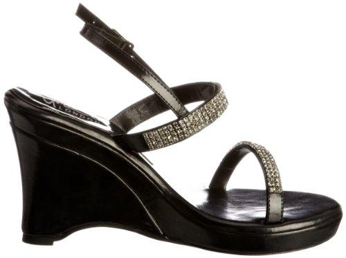 Unze Evening Sandals L18807W - Sandalias para mujer Negro