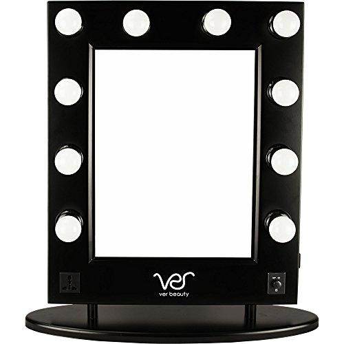 Ver Beauty VMR4512 Hollywood Vanity Mirror, Black Matte