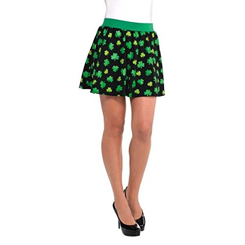 Amscan Lucky Irish St. Patrick's Day Skater Skirt (1 Piece), One Size, Multicolor