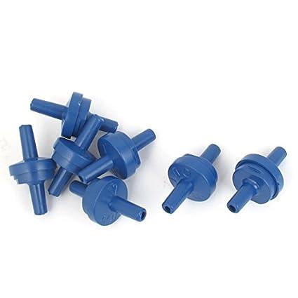 eDealMax 7 pieza de plástico acuario Bomba de aire No retorno unidireccional de válvulas de retención