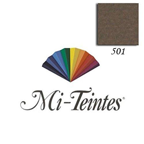 Papel Mi-Teintes 160 g/m² 50 x 65 cm Canson Avulso 501 Tobacco