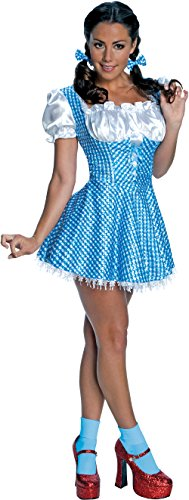 Secret Wishes  Women's Wizard of Oz Sequin Dorothy Costume, Blue/White, Small (Sexy Costumes Online)