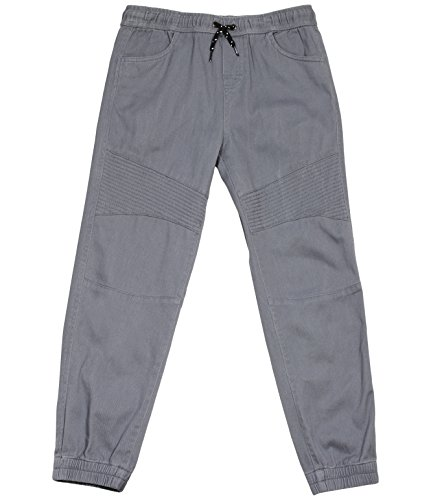 Tony Hawk Kids Boys Cotton Stretch Twill Jogger Pants with Drawstring and (Twill Chino Pants)