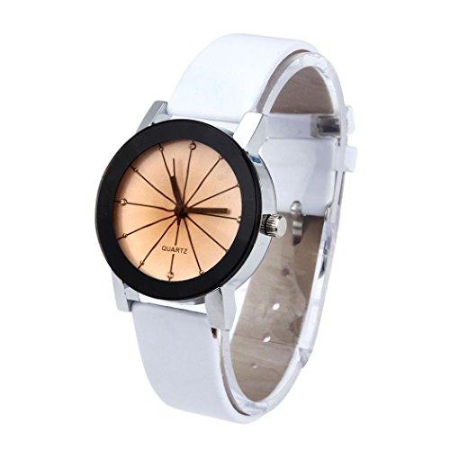 ZLOLIA WoMen Quartz Dial Clock Leather Wrist Watch Round Case