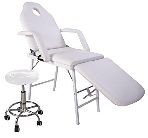 Adjustable bed with massage function : Merax professional multi function adjusting salon chair