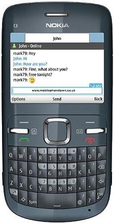Nokia C3-00 SIM única Gris - Smartphone (6,1 cm (2.4