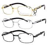 SA106 Art Nouveau Vintage Style Rectangular Metal Frame Eye Glasses