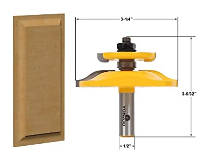 Yonico 12143 Raised Panel Router Bit with Backcutter 1/2-Inch Shank by Precision Bits.com