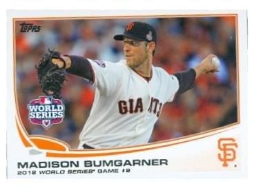 Madison Bumgarner baseball card (San Francisco Giants 2012 World Series Champions) 2013 Topps #256 Game 3 Win (San Francisco Giants Win World Series 2012)
