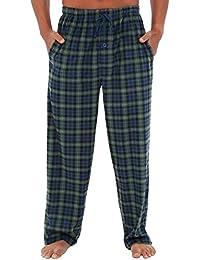 Mens Fleece Pajama Pants, Long Microfiber Pj Bottoms