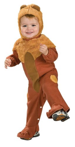 Wizard Of Oz Cowardly Lion Romper Costume, 1 to 6 Months (Cuddly Lion Baby Costume)