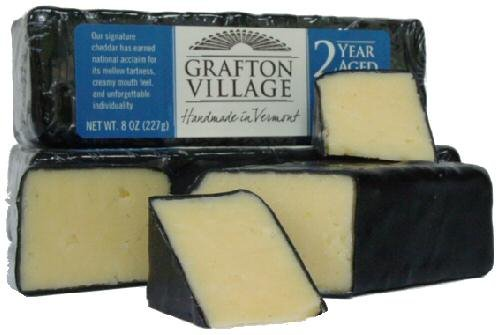 2 Year Aged Vermont Cheddar, 8 oz. (3 pack) made in New England