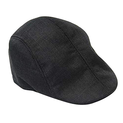 ab19a2bfccc ZKADMZ  Neunisex Womens Mens Newsboy Duckbill Driving Cap Flat Linen Beret  Hat Boina Casual Fashion Style  Amazon.co.uk  Sports   Outdoors