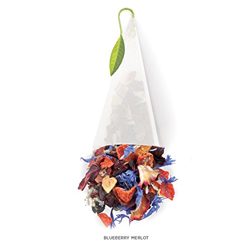 Tea Forté BULK PACK Blueberry Merlot Herbal Tea, 48 Handcrafted Pyramid Tea Infusers by Tea Forte (Image #2)