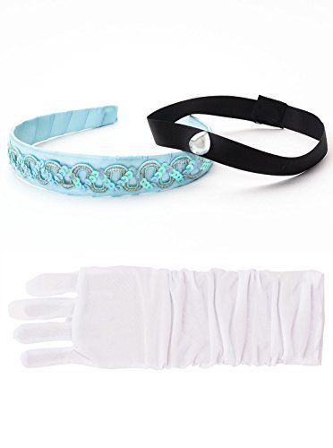 Little Adventures Cinderella Headband & White Glove Set for Girls - One-Size (3+ Yrs)