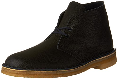 Mens Navy Leather Desert Boot Clarks Tumbled qgxwE1fSA