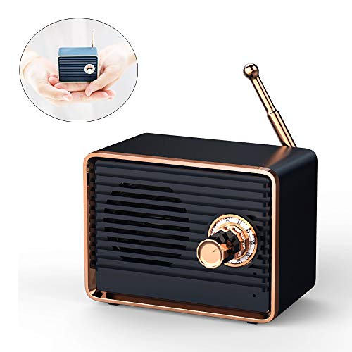 Bluetooth Speakers, Antique Mini Bluetooth Speaker, Portable Wireless Speaker, Computer Speakers, Speakers Bluetooth Wireless,Small Outdoor Speakers,Bluetooth Speakers Portable Wireless Stereo (BLACK)