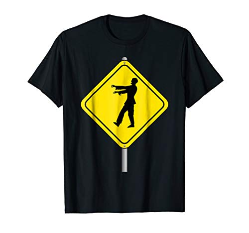 Zombies Ahead Road Sign T-shirt