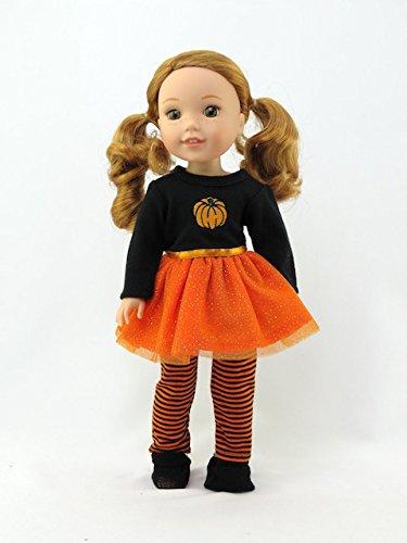 American Fashion World Pumpkin Tutu Halloween Dress  