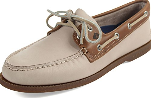 Sperry Top-Sider - Mens Authentic Original Boat Shoe, Size: 9.5 D(M) US, Color: White/Camel (Original Casual Shoe)