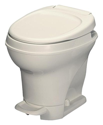 Aqua-Magic V RV Toilet Pedal Flush /High Profile / Parchment - Thetford 31672
