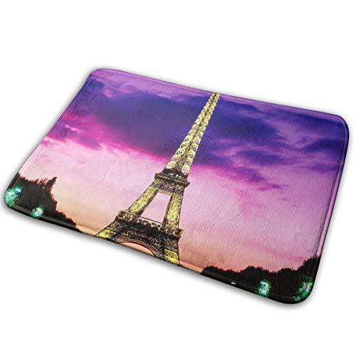 Baerg Non-Slip Stain Fade Resistant Door Mat Paris Eiffel Tower Sky Living Room Rug Carpet 15.7