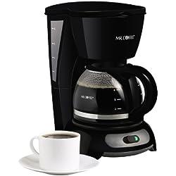 Mr. Coffee 4-Cup Switch Coffeemaker, Black, TF5