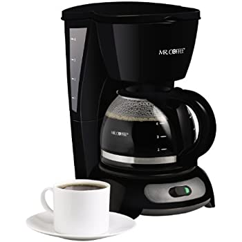 Amazon.com: Mr. Coffee 4-Cup Programmable Coffeemaker, DRX5-RB: Drip Coffeemakers: Kitchen & Dining