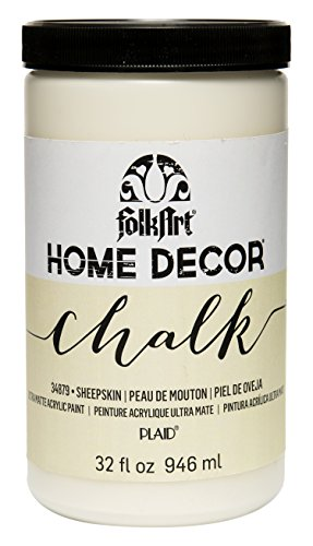 FolkArt 34879 Home Decor Chalk Furniture & Craft Paint in Assorted Colors, 32 ounce, Sheepskin