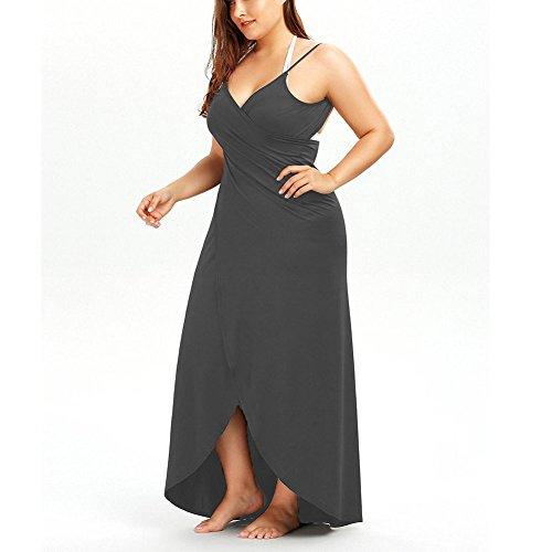 JOYORUN - Camisola - vestido - Sin mangas - para mujer gris oscuro