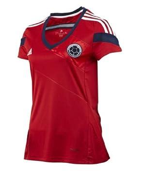Adidas Camiseta Selección Colombia Visitante Brasil 2014 Mujer Manga Corta-Rojo (M): Amazon.es: Deportes y aire libre