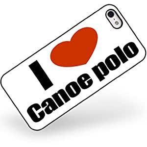 Rubber Case for iphone 5 5s I Love canoe polo - Neonblond