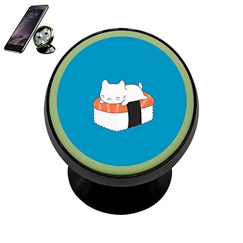 SJ Bracket cat Sushi Safeness & Comfort Magnetic Phone Car Mount Holder Universal 360 Rotation Stand Metal Mobile Phone