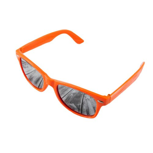 de ornge Unisex de mirror cristales Morefaz Wayfarer Gafas estilo sol espejo pnnS6qg