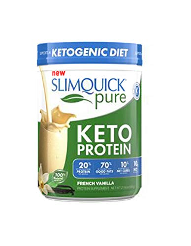 SLIMQUICK Pure Protein Powder with Low Calorie Dietary Supplement, French Vanilla, 600 Gram (Slimquick For Men)