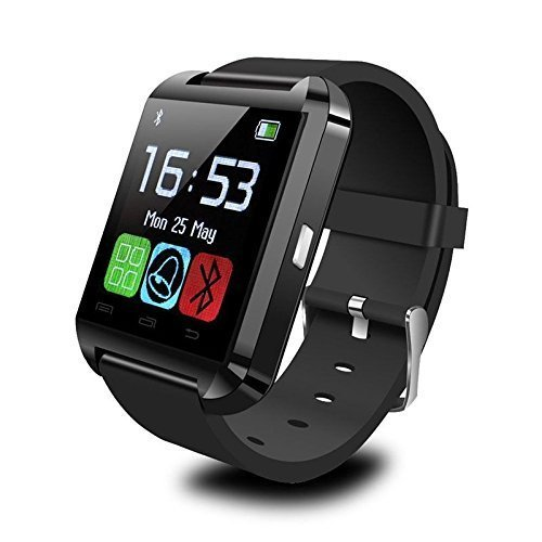 Bluetooth Smart Watch WristWatch for iOS Android OS Smartphones iPhone 4/4S/5/5S/6 Samsung S5/S4/S3/Note 3 HTC Huawei Xiaomi (U8 Black)
