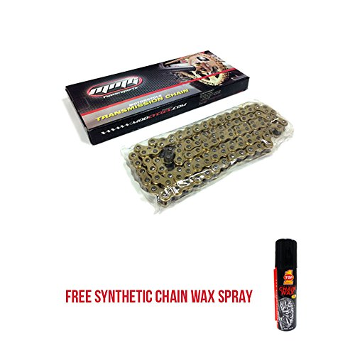 415H - 120 Links Standard Roller Transmission Chain Motorcycle Scooter ATV 50cc + FREE TOP1 Synthetic Chain Wax