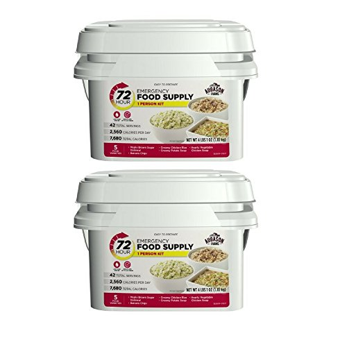 Augason Farms 72-Hour 1-Person Emergency Food Supply Kit (2 pack)