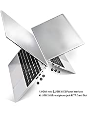 HSW 15.6 inch Windows 10 Home Business Laptop Ultra-Thin Portable Notebook Intel Atom Z8350 Quad Core Ultrabook ,Supports WiFi, HDMI, Camera and 128GB TF Card Extension Computer (2GB+32GB White)