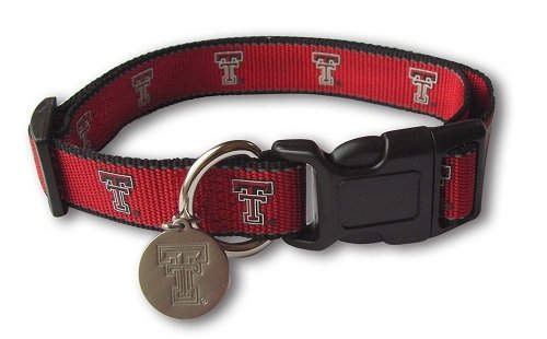 Sporty K9 NCAA Texas Tech Red Raiders Reflective Dog Collar, Small