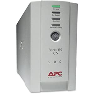Apc Back-UPS CS Battery Backup System Six-Outlet 500 Volt-Amps (APWBK500)