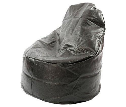 Kaikoo Ezee Faux Leather Bean Bag Chair Black