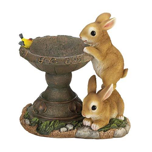 Taczotech Playful Bunnies Bird Feeder Outdoor Decor, Garden Decor ()