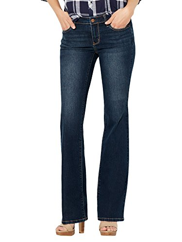 Full Panel Bootcut Jean (New York & Co. Soho Jeans - Curvy Bootcut - 00)